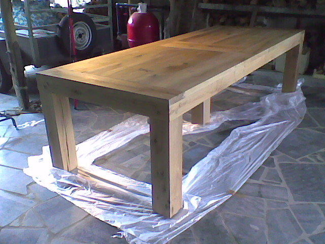 Le bois m tier ou passion for Plan de construction table de jardin en bois