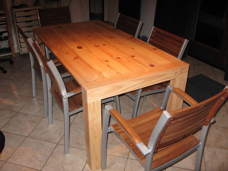 Le bois m tier ou passion - Fabriquer sa table de salle a manger ...